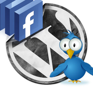 wordpress facebook twitter